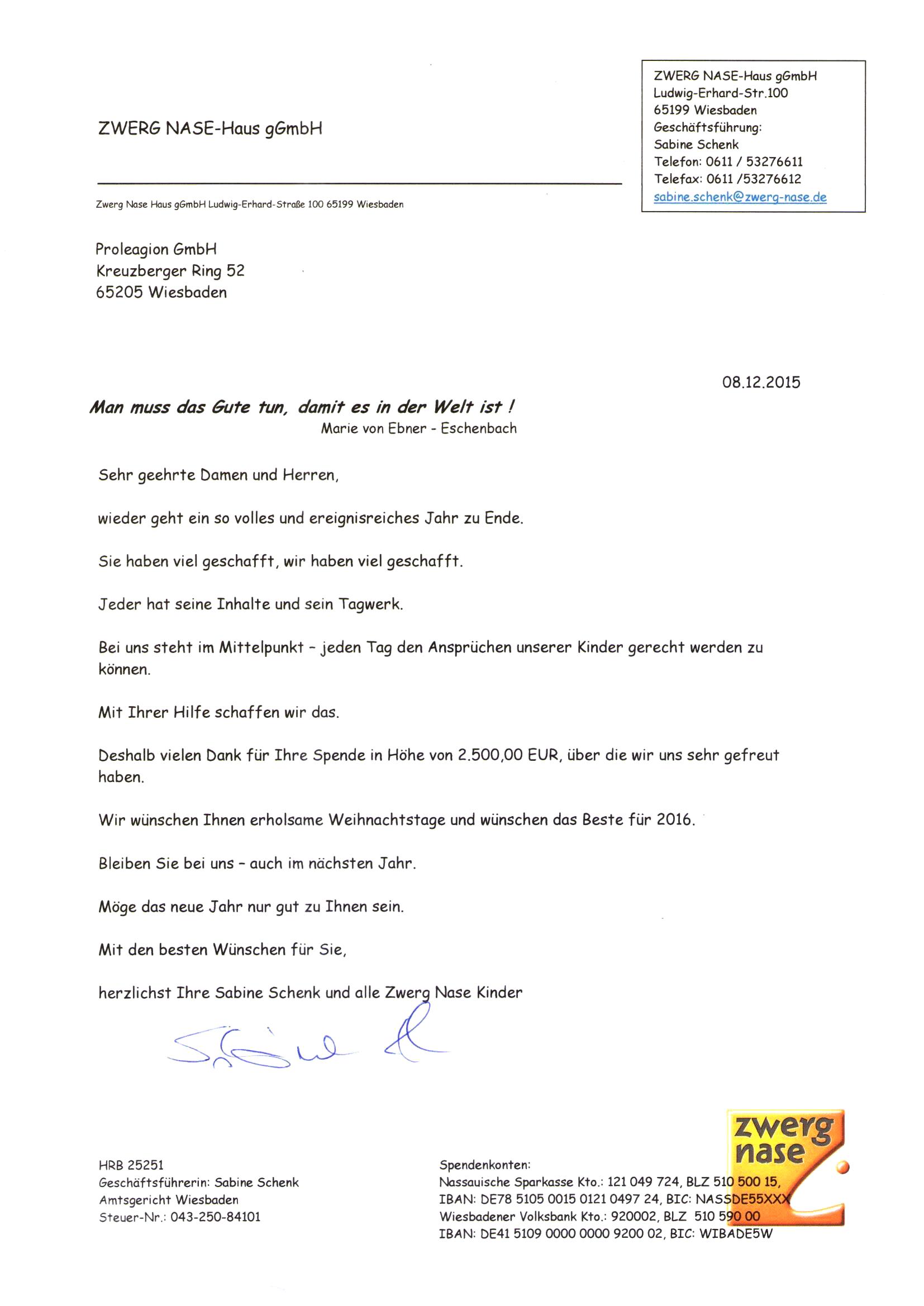 ZWERG NASE-Haus Wiesbaden - PROLEAGION GmbH